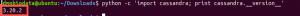 Client driver python sur cassandra
