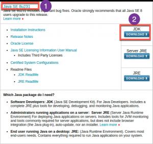 Téléchargement de java JDK 8