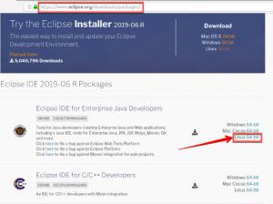 Site pour télécharger la version de eclipse