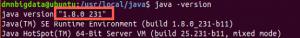 version de java 8 sur ubuntu